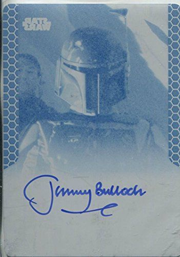Star Wars Chrome Perspectives Printing Plate Autograph Card Jeremy Bulloch Cyan @ niftywarehouse.com #NiftyWarehouse #Geek #Products #StarWars #Movies #Film