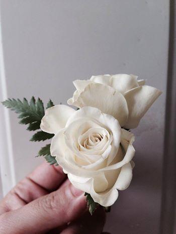 CBB137 Riviera Maya Weddings bodas / boutonniereswhite  mini roses/ boutonniere mini rosas blancas