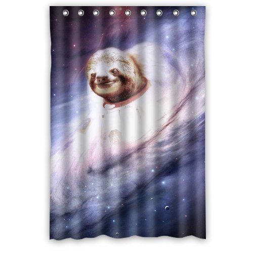 Custom King Kong Sloth Animal Shower Curtain 48 X 72