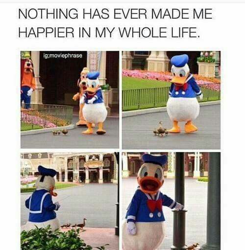 Finally Donald is not being grumpy