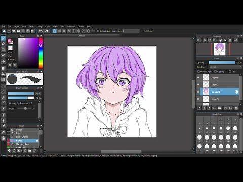 Mencoba Menggambar Anime Menggunkan Medibang Paint Pro Youtube Di 2020 Gambar