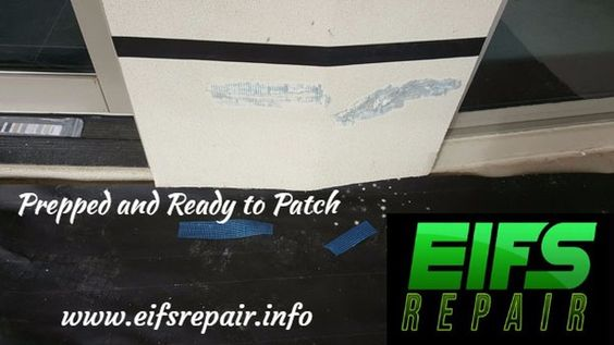 All Prepped And Ready To Patch. #eifsrepair www.eifs.repair #working #work