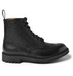 Church's Grizedale Pebble-Grain Leather Brogue Boots