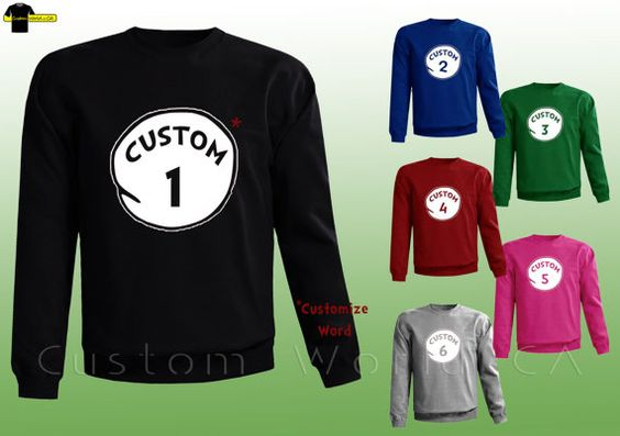 Customize you Thing put your own words Thing 1 by CustomWorldCA