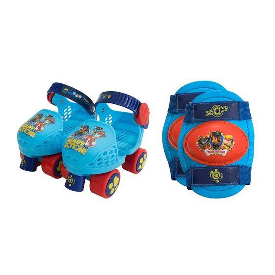 Paw Patrol Kids Roller Skate & Knee Pad Set, Blue