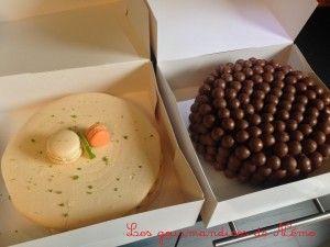 Gâteau macaron poires et citron vert + Gâteau Maltesers tout chocolat