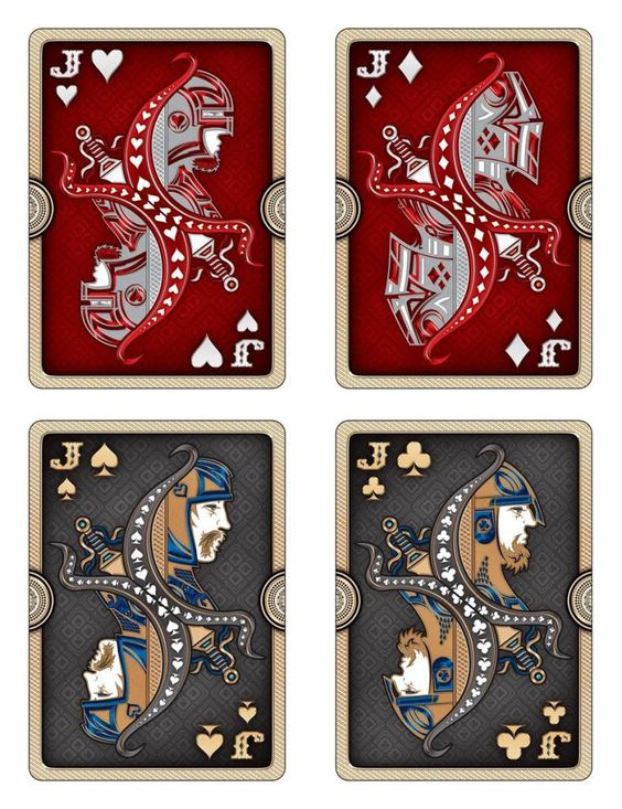 Ornate Playing Cards | early Design stage of the JACKS