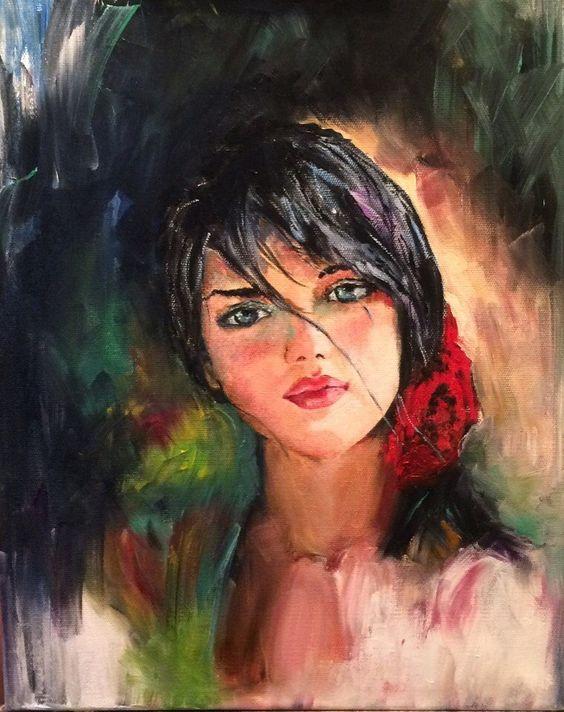 Работа создана по мотивам М. Гармаш. Выполнена на холсте на подрамнике 40*50 масляными красками.