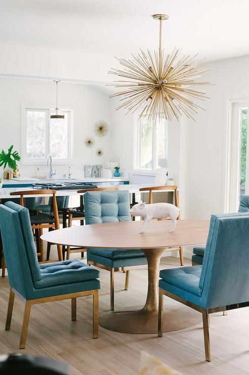 Oval Dining Room Glamorous Design Inspiration