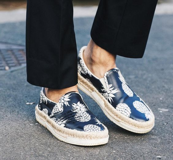 「#shoeenvy: in love with these #Valentino #springsummer2016 Pineapple print espadrilles style slip on sneakers!  #shoes #menswear #mensfashion…」