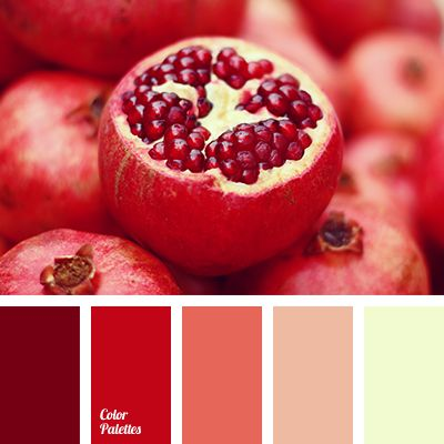 Color palettes, Red color palettes and Colors on Pinterest