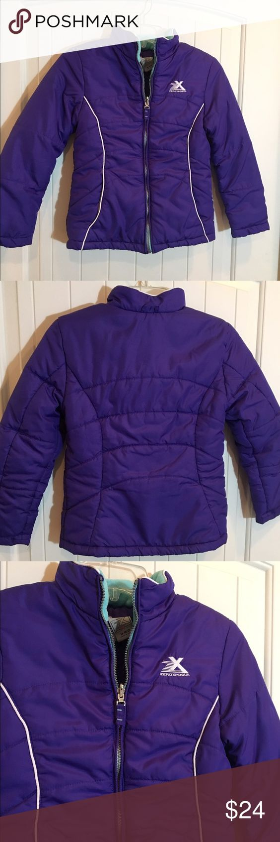 Zero Xposure kids coat girls 10-12 Purple coat with turquoise fleece collar. Girls 10-12. Great condition😊 ZeroXposur Jackets & Coats Puffers