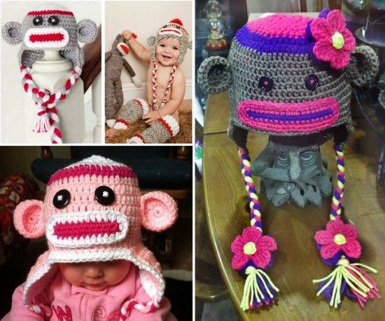 Sock Monkey Crochet Hat Free Pattern Crochet Characters Hats