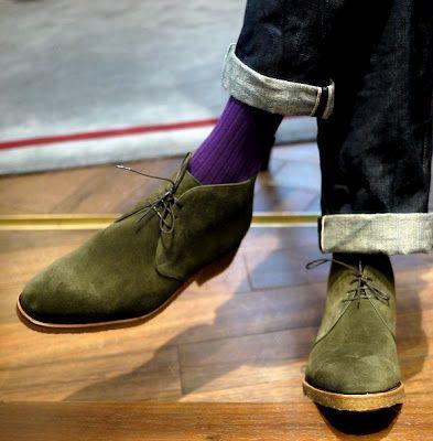 Carmina olive green chukka boots: