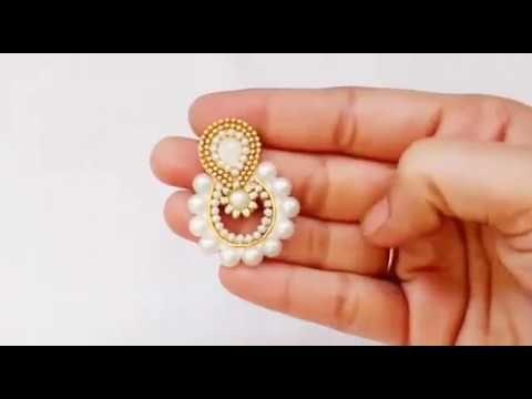 How To Make Designer Fancy Earrings Jewellery Making DIY