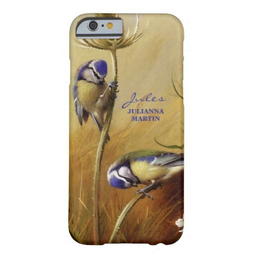 """""""Blue Tits On A Teasel"""" is an exquisite vintage bird painting restored from 1922 by Archibald Thorburn. The Blue Tit  is easily recognizable by its blue and yellow. Makes a beautifully unique cell phone case for those who love vintage and/or bird watchers."""