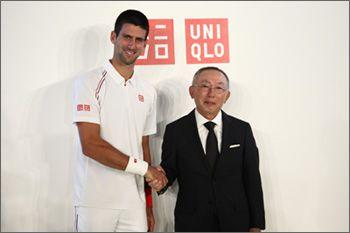 世界ランクNo.1のプロテニスプレーヤー、ノバク・ジョコビッチ選手と5年間の『グローバル ブランド アンバサダー』契約を締結 - UNIQLO ユニクロ
