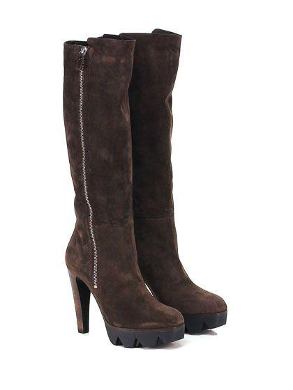 VIC MATIE - Stivali - Donna - Stivale in camoscio con zip su lato interno e…