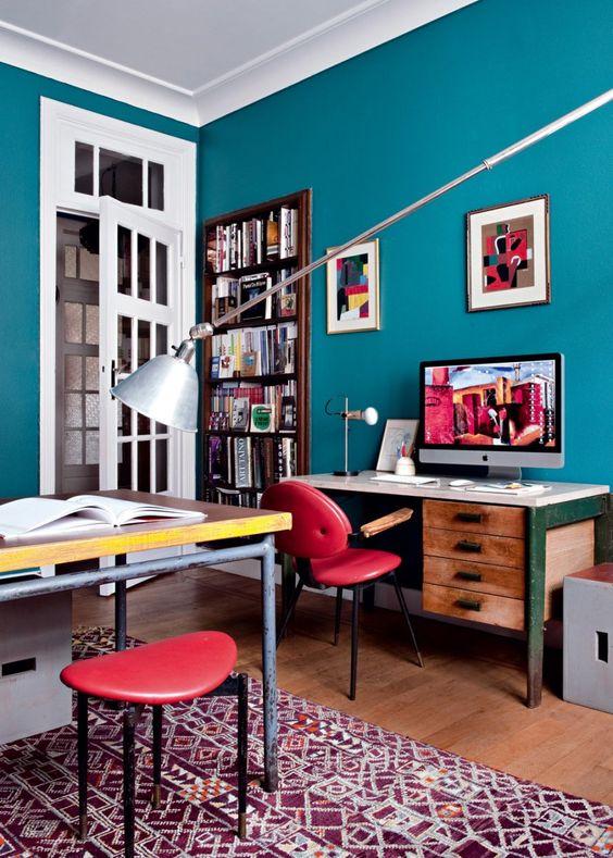 Casinha colorida: Home Tour: vintage clássico em muitas cores e estilo