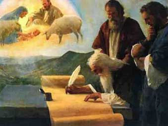 «Dios, inspirador y autor de ambos Testamentos, dispuso las cosas tan sabiamente que el Nuevo Testamento está latente en el Antiguo y el Antiguo está patente en el Nuevo