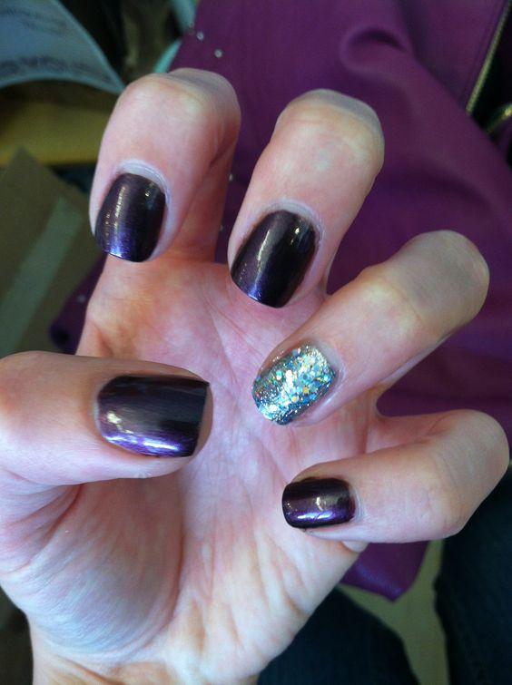 Fall colors//nail bling!