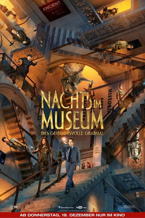 2014 24x36 Night at the Museum Secret of the Tomb Movie Poster - Stiller NEW