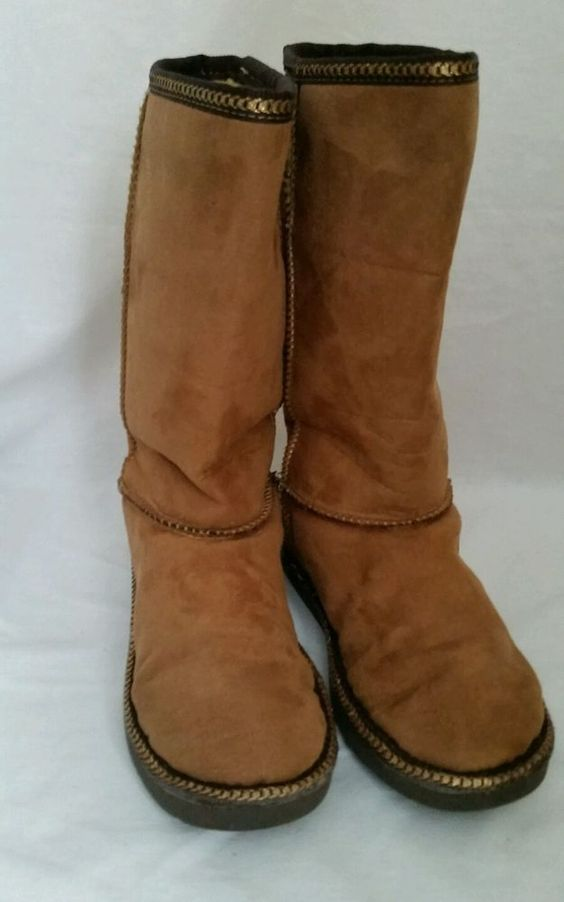 Skechers Boots Girls Kids suede Brown Size 2 #SKECHERS #Boots ...