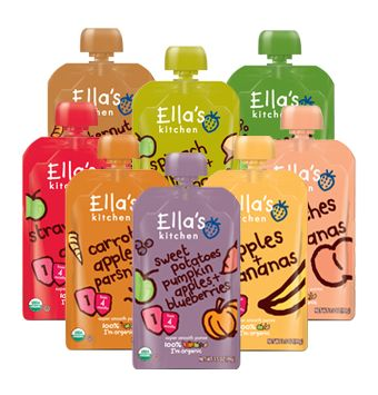 Moms, save yourselves!!!!!!  These baby food pouches changed my life when my baby could feed himself.  And Ella's is the best tasting brand!