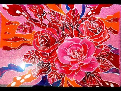 Glass Painting Of Rose Youtube Glass Painting Painting Mandala Painting