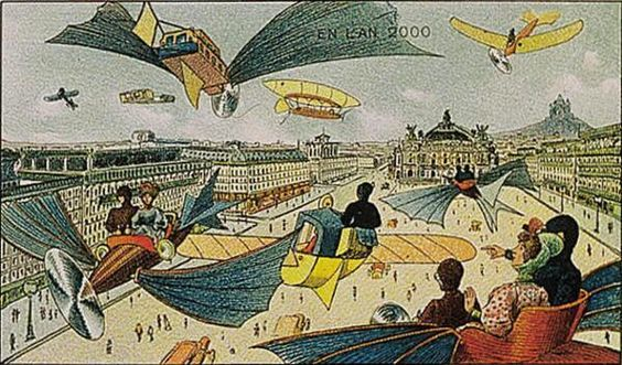 In 1910 a French illustrator named Villemard predicted what the year 2000 would be like  http://t.co/p30BrG0AfS http://t.co/byRXXMPkLW