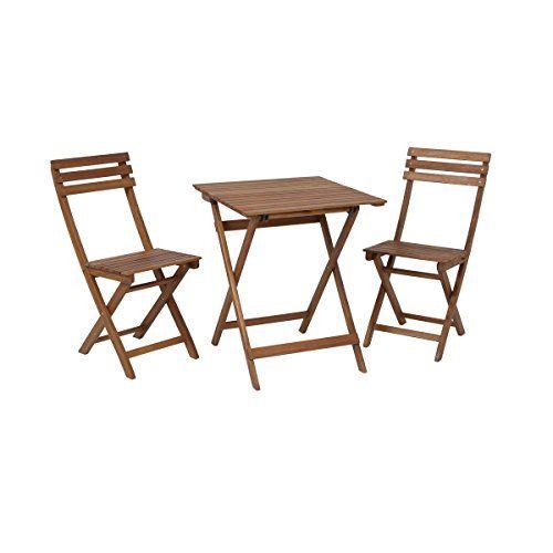 Greemotion Ensemble Chaise Et Table Bistrot Borkum Table De Jardin Pliante En Bois Et 2 Chaises Plia En 2020 Chaise Pliante Bois Table De Jardin Pliante Acacia Table