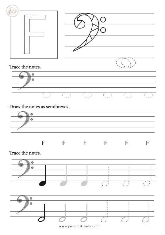 Music Theory Basics Drawing Notes Bass Clef F In 2020 Music Theory Music Theory Worksheets Learn Music
