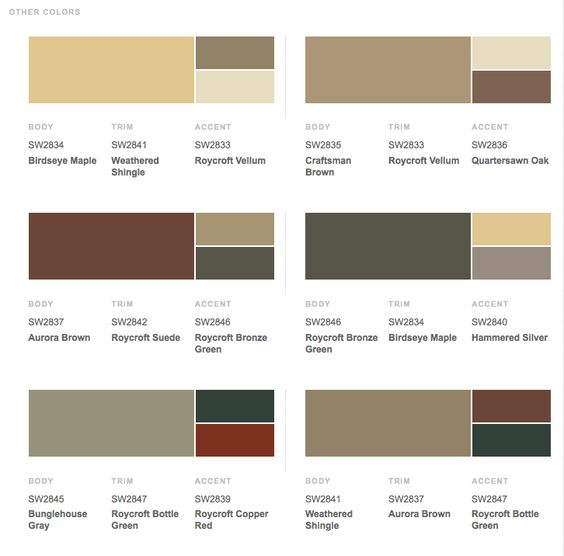 Help with exterior trim color for our brown house home for Good color combinations for house exterior