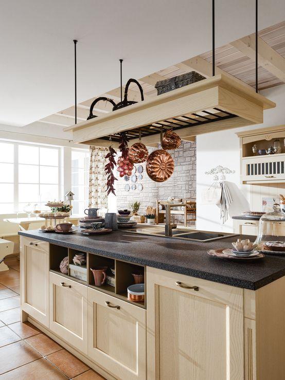 La cucina all\'americana | Cucine rustiche, Idee per la ...