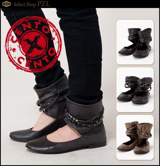 """CENTO X CENTO Venezia"" Ballerina Shoes  Made in Italy"