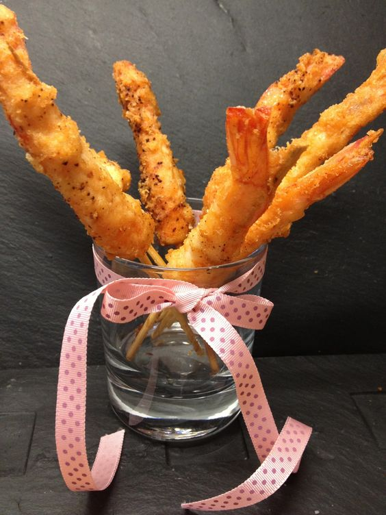 Crevettes Panées au Parmesan