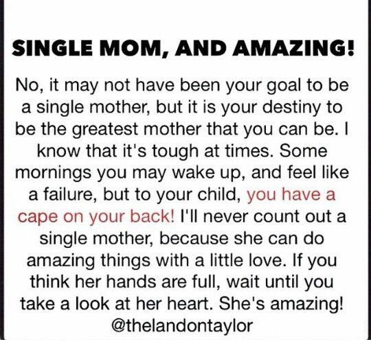 Single Mom, and Amazing
