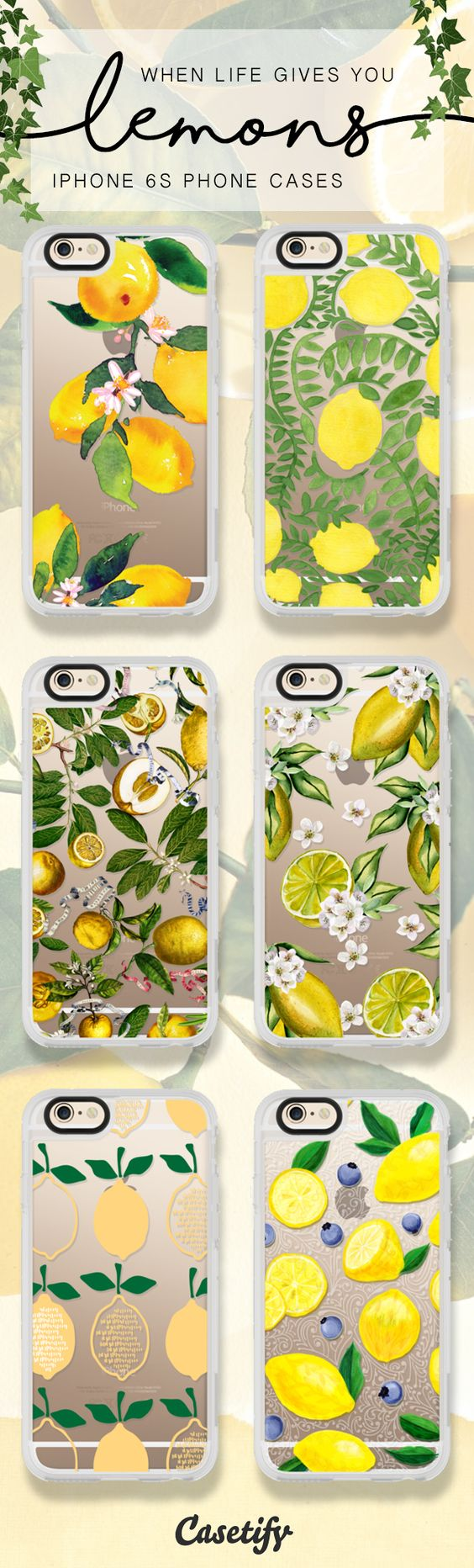 When life gives you lemons, shop these iPhone 6 and iPhone 7 cases here >>> https://www.casetify.com/artworks/CUIyKUMHEr