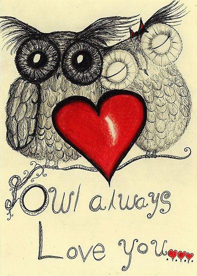 'Owl Always Love You' by InkyDreamz