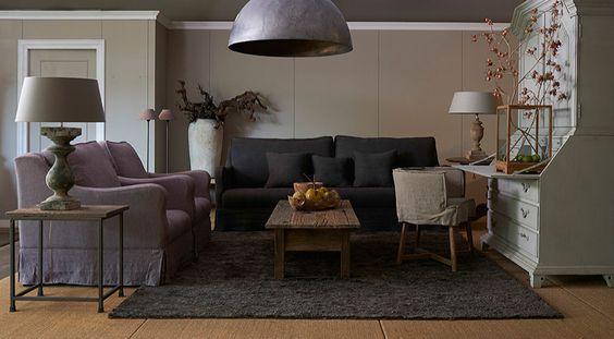 Donkere bank landelijke inrichting lifestyle gallery for Mart kleppe interieur