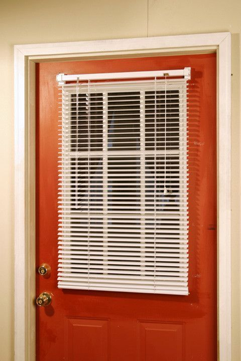 Magneblind Is The Original Magnetic Mini Blind That Attaches To Standard Width Steel Doors Without Using Tools It Vinyl Blinds House Blinds Blinds For Windows