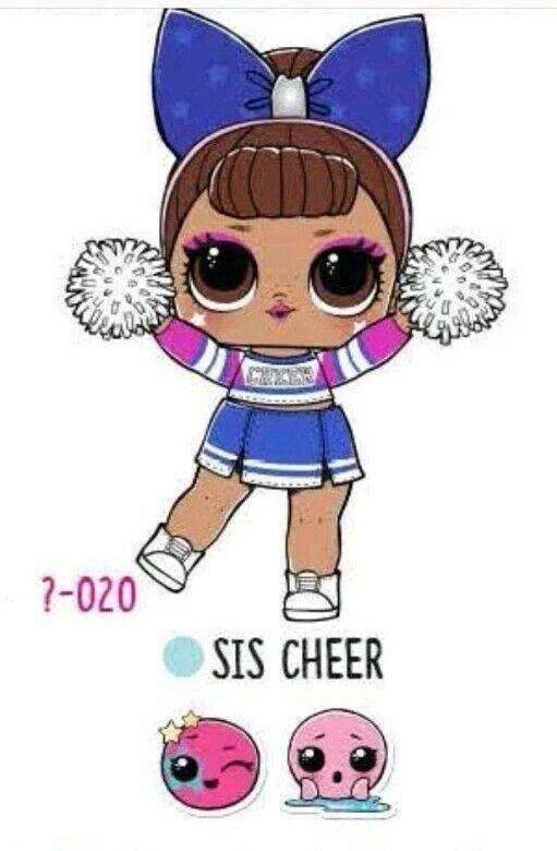 Lol Surprise Under Wraps Wave 2 Sis Cheer Authentic New Cheerleader Color Change Cute Kawaii Girl Lol Dolls Cute Dolls