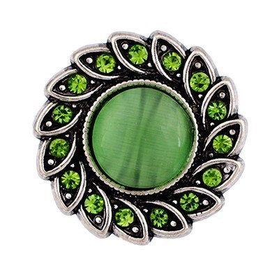 Green Stones Chunks Noosa Snap On Charm Chunk by ArmCandyCompany