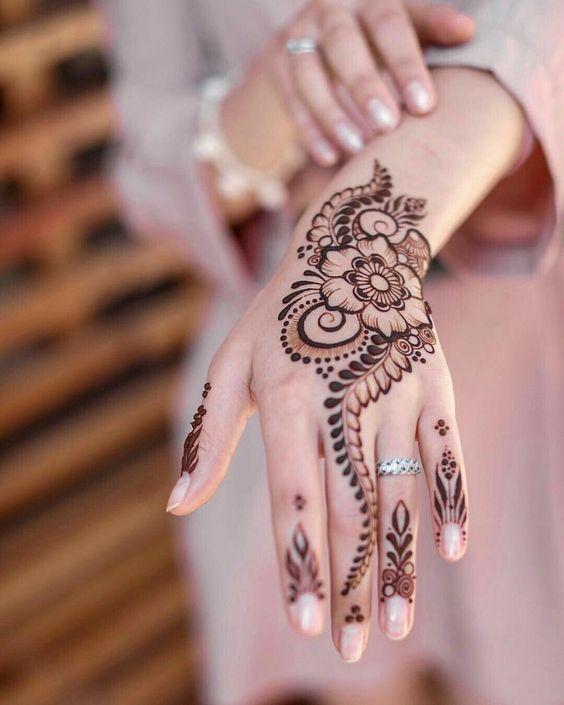 Gambar Henna Di Telapak Tangan Yang Mudah Dan Simple Terbaru Menggambar Dan Mewarnai