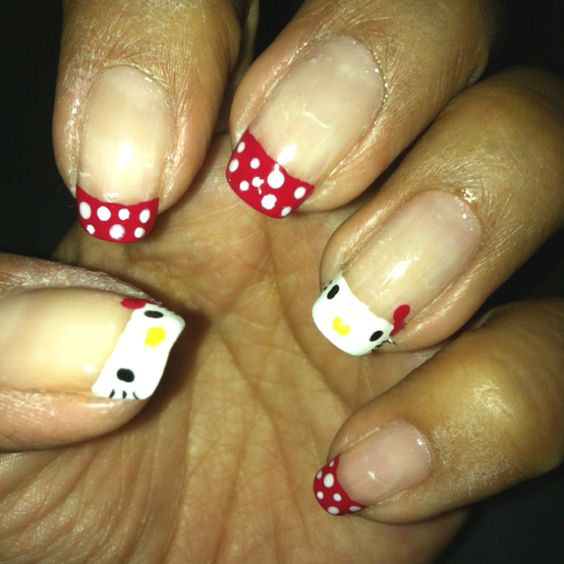 My Hello Kitty nails! ^^