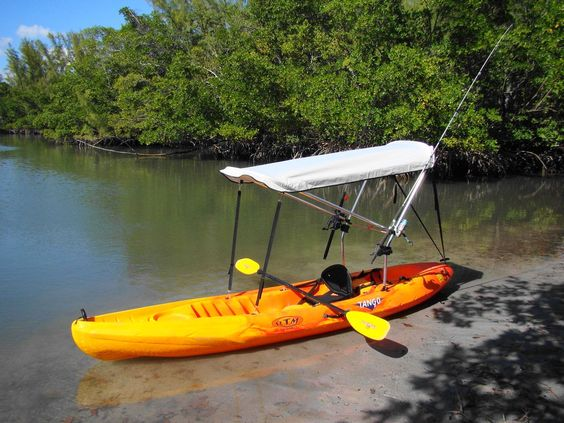 Kayaks sit on top and sun shade on pinterest for Kayak fishing rod holder