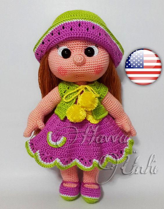 Amigurumi Watermelon : PATTERN - (JUST CLOTHES) Watermelon Dress (crochet ...