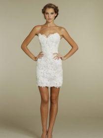 lace short wedding dress tullen