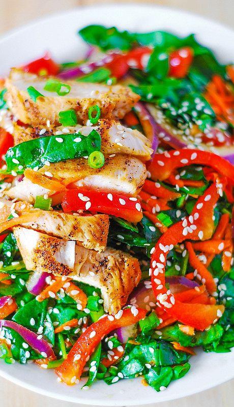 ginger sesame dressing | Recipe | Asian Chicken, Asian Chicken Salads ...