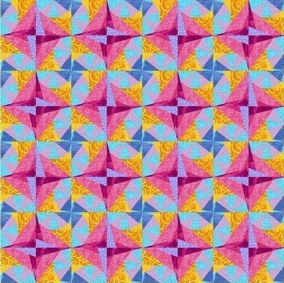 Citrus Twist paper pieced quilt block pattern PDF